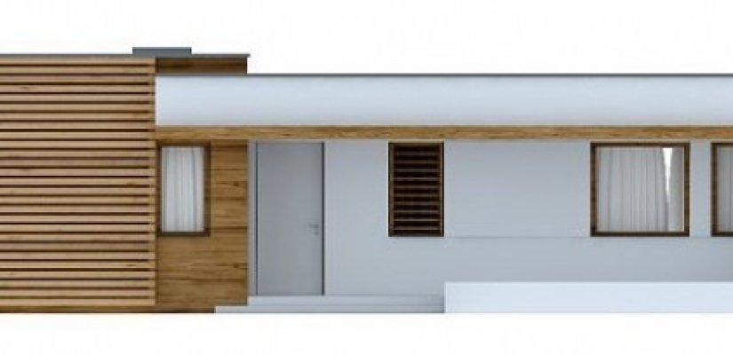 Das Projekt Ist Ein Einstöckiges Haus Mit Terrasse Und Garage, Angebaute  Garage. Insgesamt Wand Reduziert Die Kosten Für Den Bau Und Die Struktur  Kompakt ...
