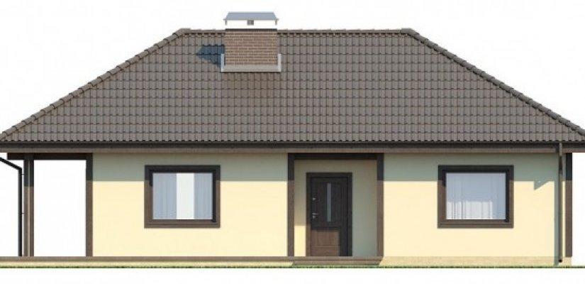 Good Haus Mit Zwei Terrassen Im Stil Des Pazifik. Das Ursprüngliche Projekt Für  Die Südlichen Küstenregionen Mit Einem Milden Klima. Mit Einem Flachdach  Und Der ...