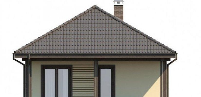 Haus Mit Zwei Terrassen Im Stil Des Pazifik. Das Ursprüngliche Projekt Für  Die Südlichen Küstenregionen Mit Einem Milden Klima. Mit Einem Flachdach  Und Der ...