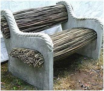 Интересный дизайн скамейки