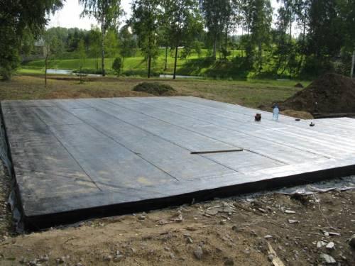 Изготовление плиточного фундамента