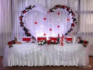 Арка сердце для свадьбы