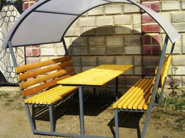 Скамейка с крышей своими руками