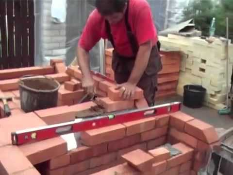 Мангал барбекю своими руками из кирпича видео
