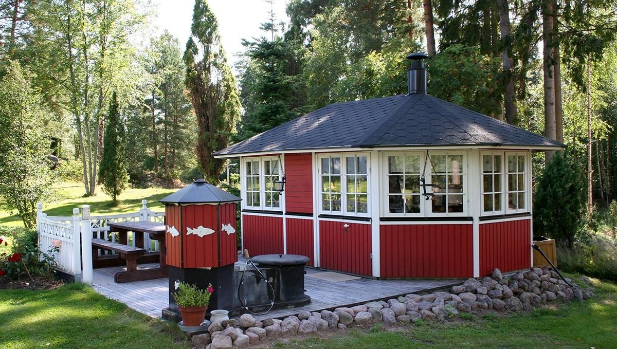 Летняя закрытая кухня на даче своими руками фото