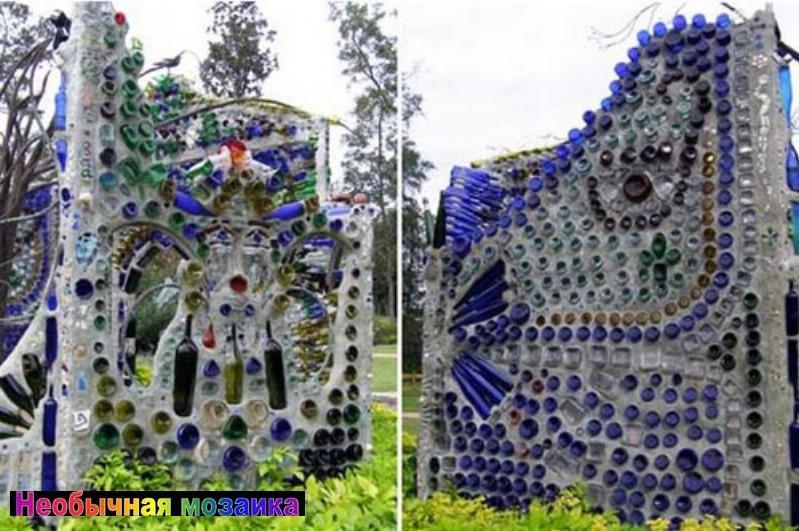 Интересная бутылочная постройка