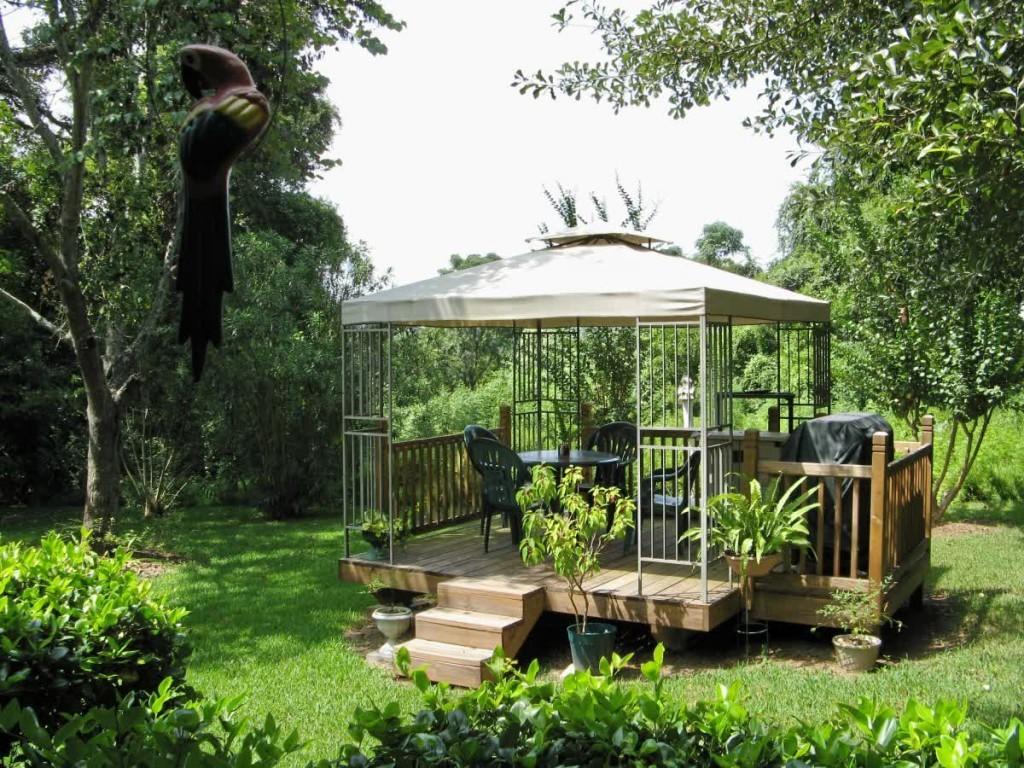 Ландшафтный дизайн сада, беседки