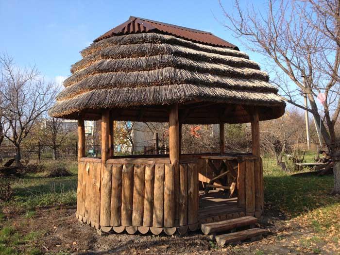 Оригинальное сооружение крыши
