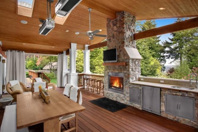 Летняя кухня на даче с барбекю мангалом своими руками