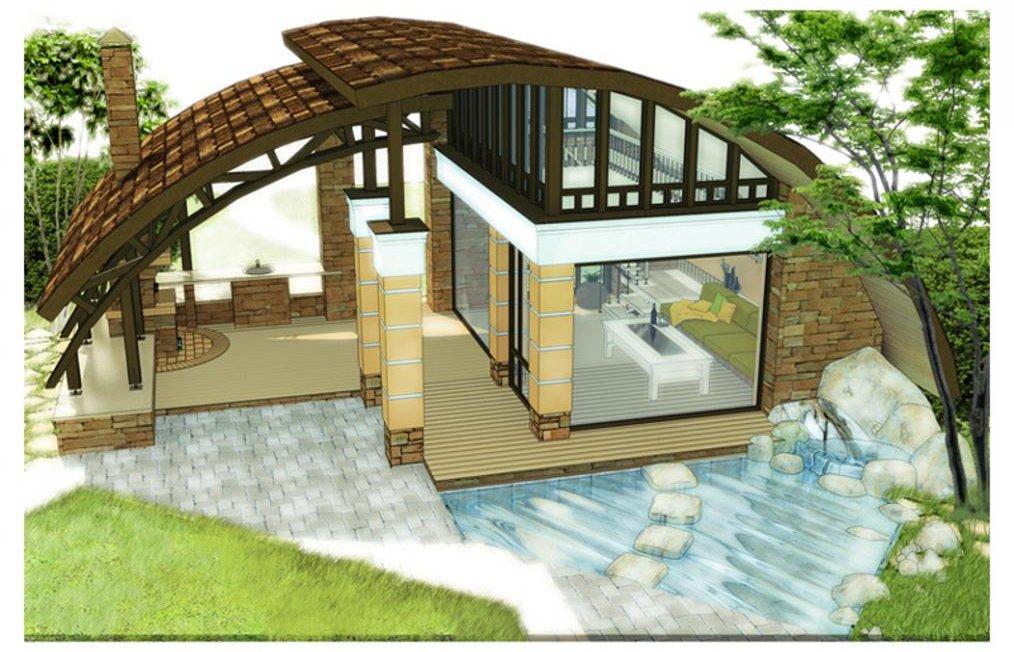Беседка к дому проекты