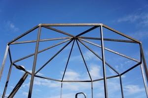Каркас крыши для металлической беседки