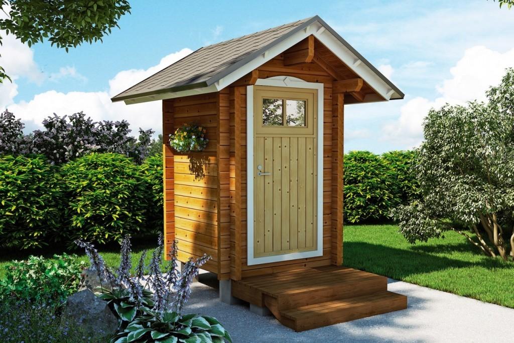 Оригинальный туалет для дачи