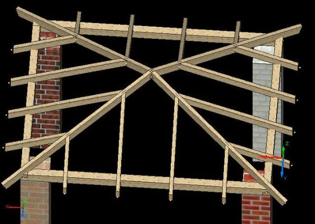 Схема обрешетки шатровой крыши
