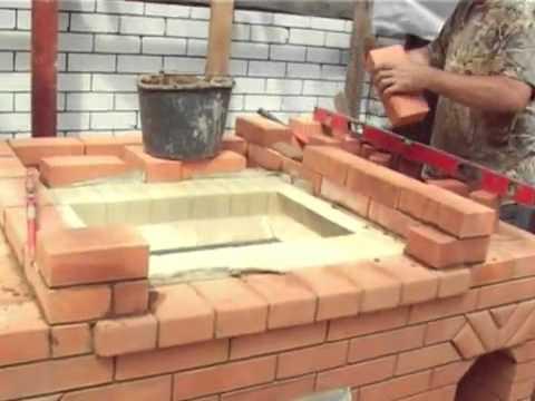 Сооружение печи с мангалом