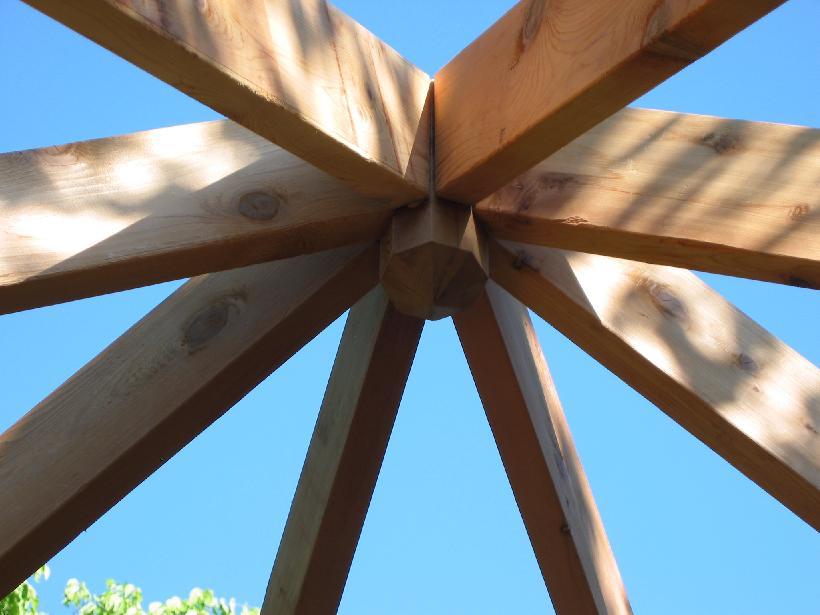 Беседка своими руками шестигранная как сделать крышу