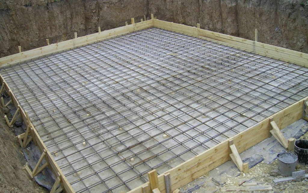 Опалубка под монолитную фундамент-плиту