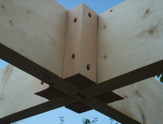Деревянная связка для верхних частей стоек