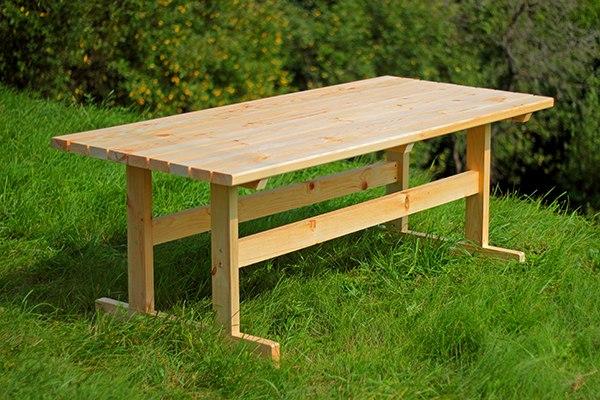 Прямоугольный стол для дачи своими руками из дерева