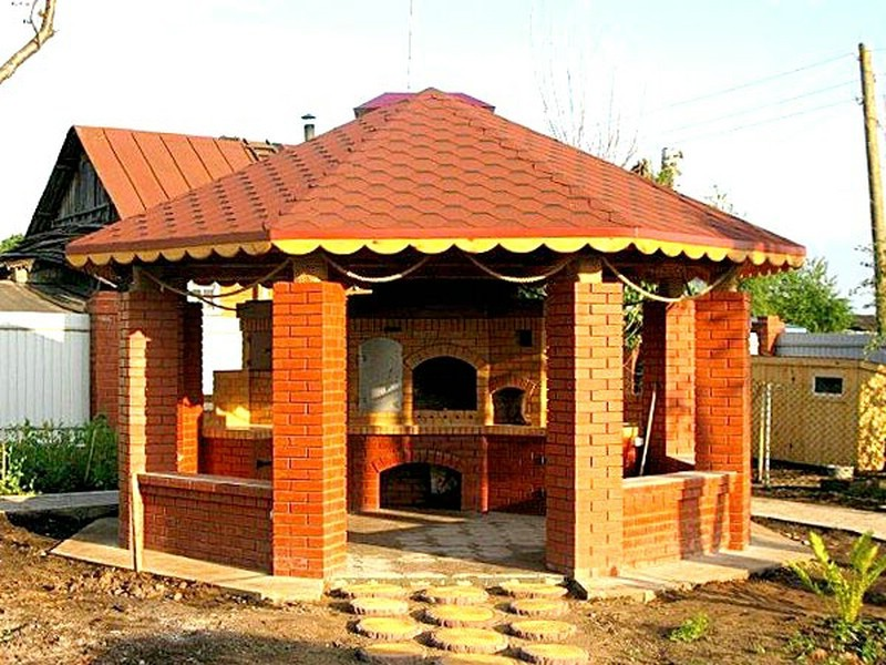 Фото капитальной постройки с барбекю