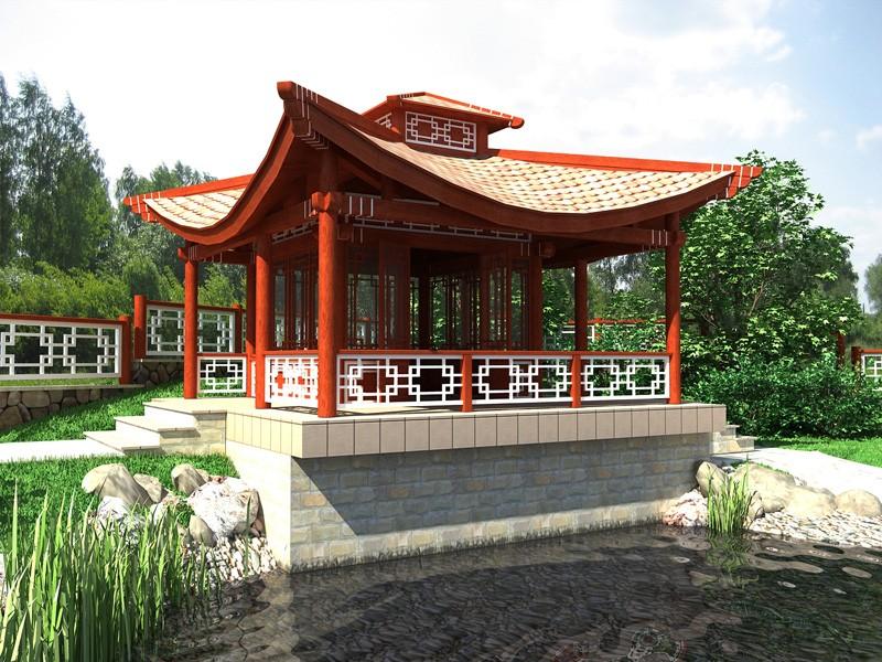 Фото конструкции в восточном стиле