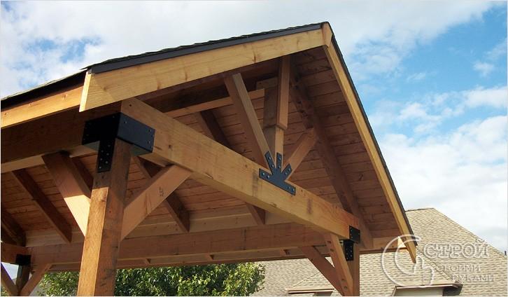 Конструкция крыши беседки