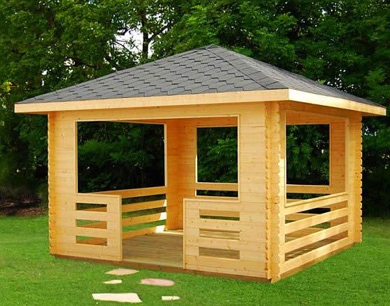 Крыша четырехскатная для беседки
