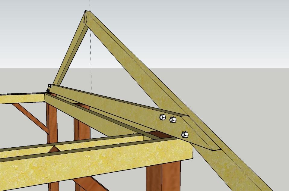 Пример крыши, выполненной в форме двух треугольников