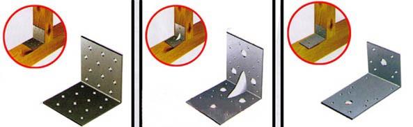 Соединение бруса при помощи металлического уголка