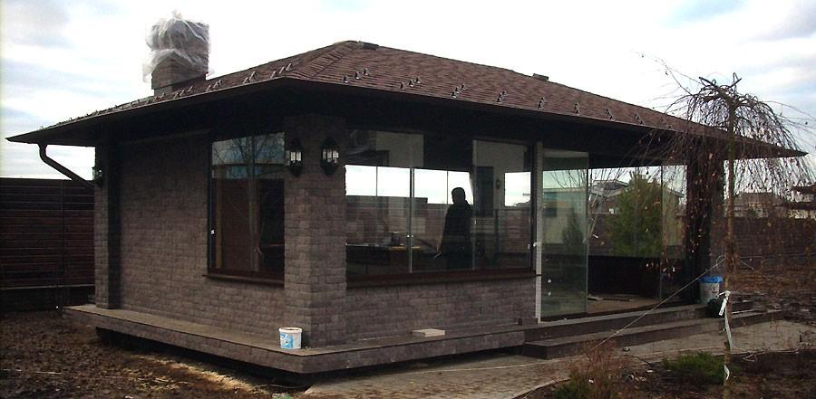 Кирпичные садовые беседки с мангалом, проекты предназначены только для капитального строительства
