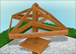 Конструкция беседки-зонта