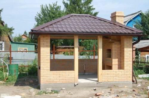 Металлическая крыша для беседки
