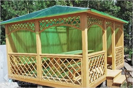 Применяем поликарбонат для крыши беседки