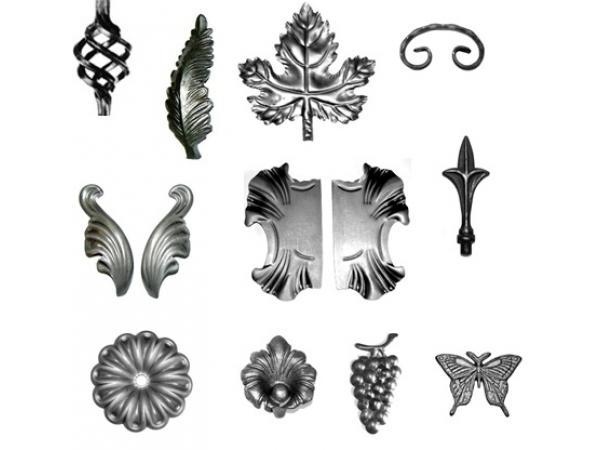 Пример готовых кованых элементов для самостоятельной сборки
