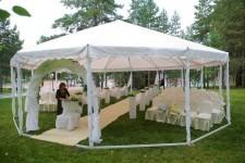 Установка легкого шатра