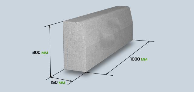 Бетонный бордюрный камень для опалубки