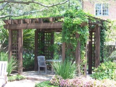 Практичная арка-навес под виноград