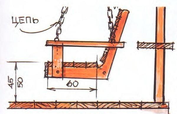 Примерные размеры указаны на рисунке