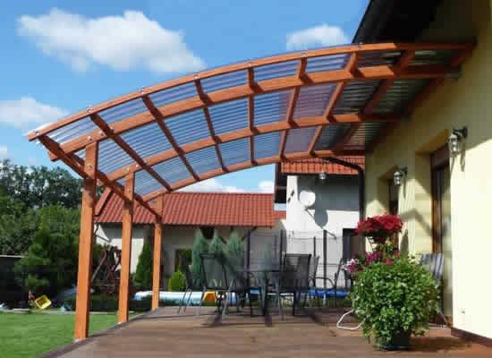 Прозрачная крыша на террасу