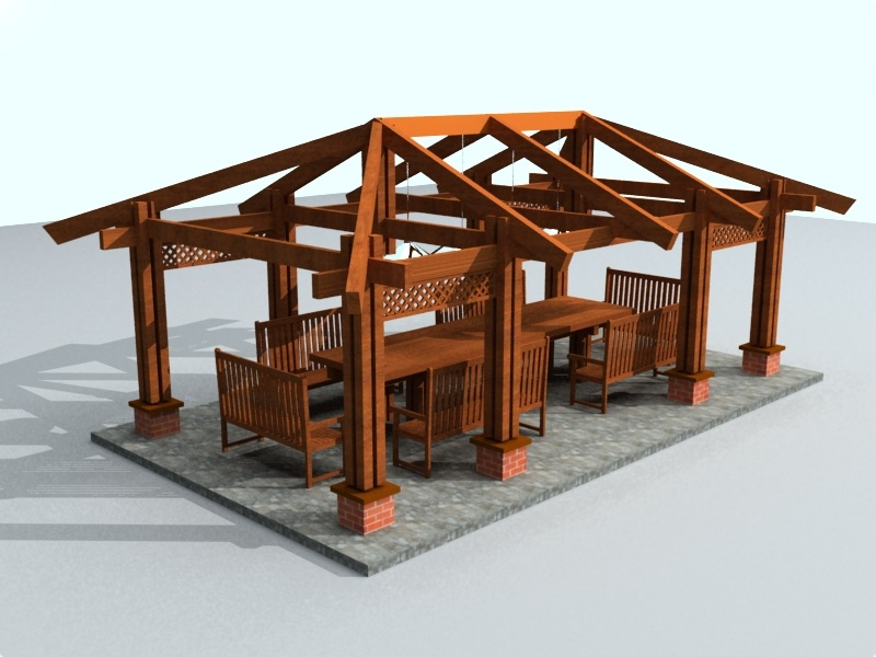 Схема устройства четырёхскатной (вальмовой) крыши