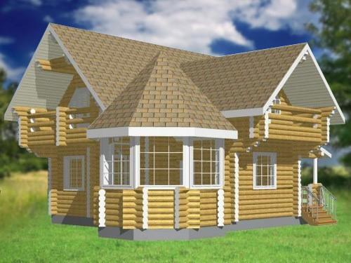 Дом с круговой верандой