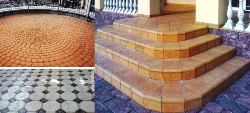 Плитка из бетона для террасы.
