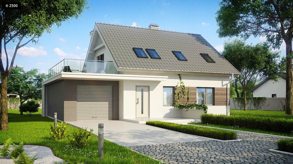 Проектируемый вариант: открытая терраса на крыше гаража