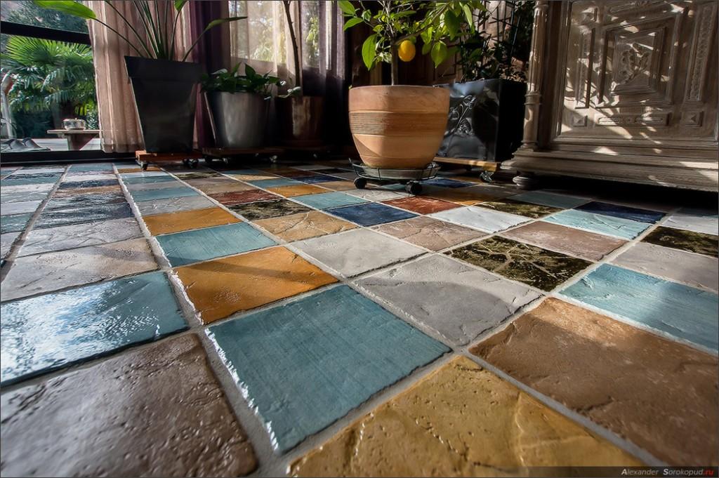 Терраса с бетонным покрытием
