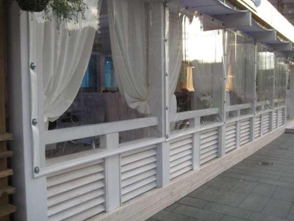 Уличные защитные шторы пвх – «мягкие окна».