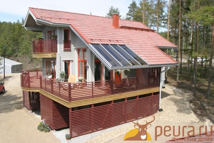 Комбинированная крыша на веранде