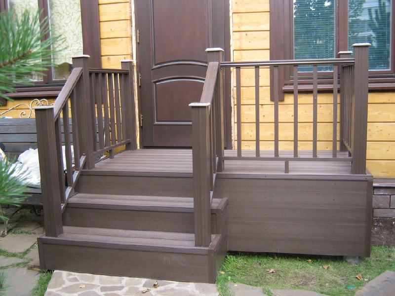 Перила на лестнице и террасе