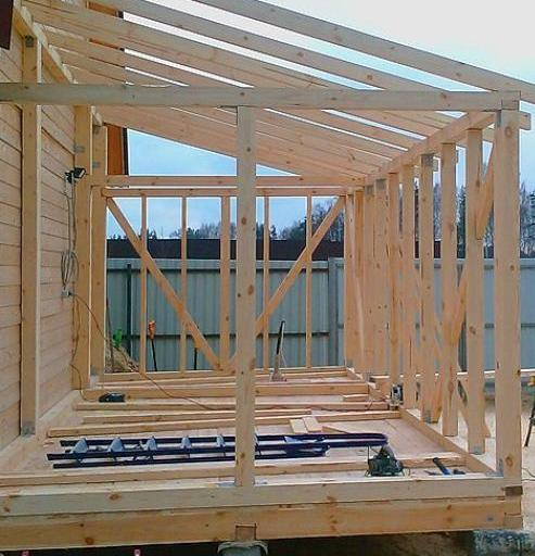 Строительство деревянной веранды к дому своими руками