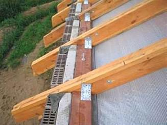 Крепление стропил для крыши