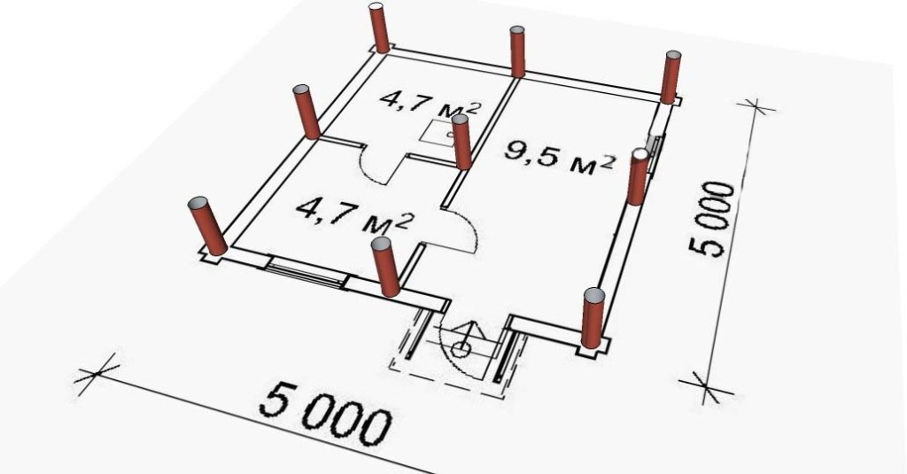Примерный план фундамента