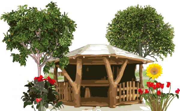 Перед тем, как построить на даче беседку своими руками, необходимо выбрать место под застройку.